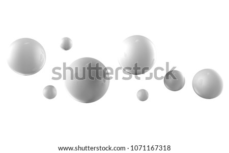 Balls on a background. Abstract. 3D rendering. #1071167318