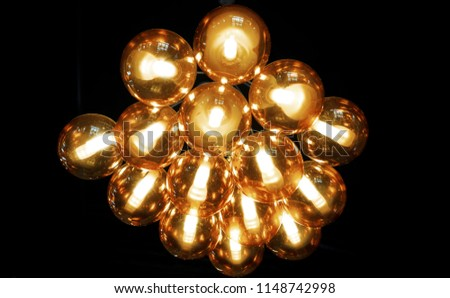 balls with incandescent lamps