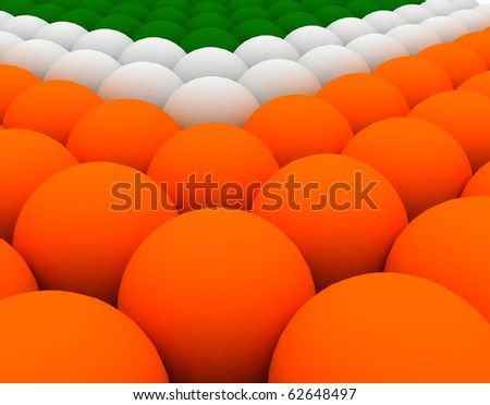 balls with indian flag tricolors