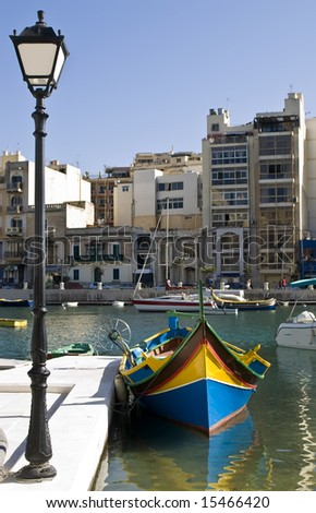 Balluta Bay in St Julians in Malta is a tourist hotspot as contains a mixture of medieval and modern elements