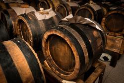 balsamic vinegar barrels for storing and aging