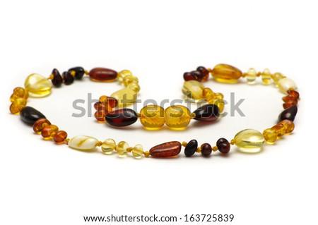 Baltic amber stylish necklace