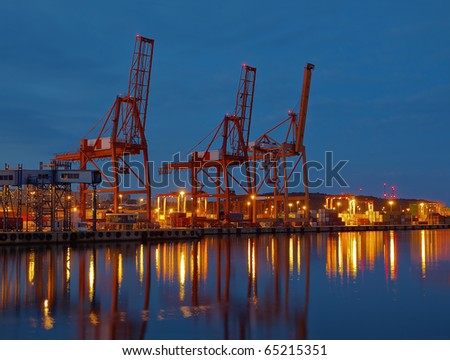 Baltic container terminal in Gdynia, Poland.