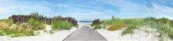 Baltic Sea Beach - Dune Path Panorama Ostsee