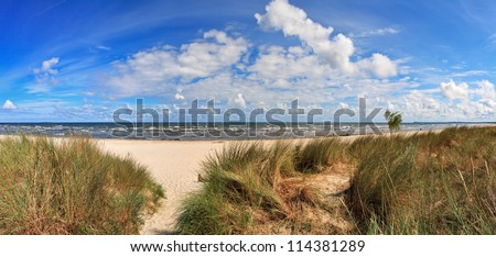 Baltic Sea Beach of Usedom Island, Germany