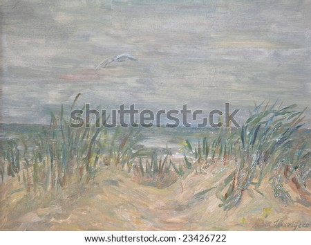 Baltic sea before the storm (original oil painting)