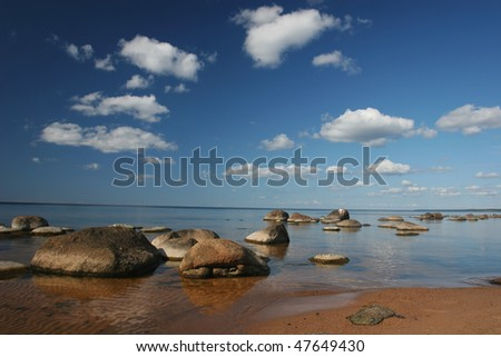 Baltic sea coast near the Riga (Latvia) - stock photo