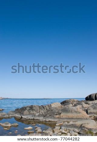 Baltic sea meets rocks in stockholm archipelago