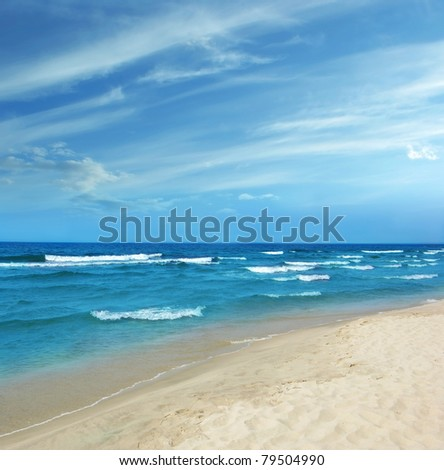 Baltic Sea white sand beach