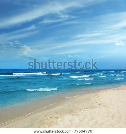 Baltic Sea white sand beach