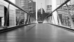 Baltimore bridge view in black and white