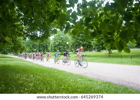 BALTIMORE MAY 21: Cyclists compete in Bike Jam-Kelly Cup on May 21, 2017 in Baltimore, Maryland  - Shutterstock ID 645269374