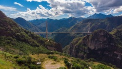 Baluarte bridge in Durango Mexico
