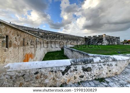 Baluarte de San Francisco, fortifications of San Francisco de Campeche in Mexico. Photo stock ©