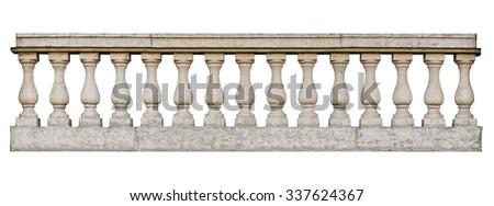 Balustrade (isolated on white background)
