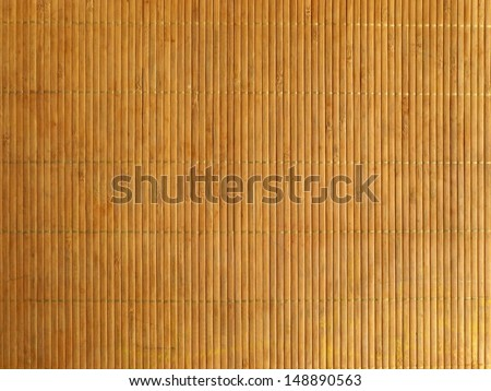 Bamboo background, The mat is made of bamboo.