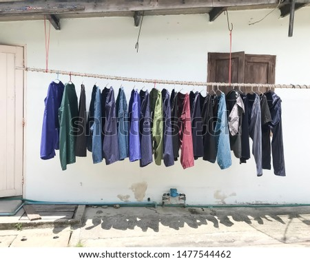 bamboo bar for hanging shorts for drying using sunlight, strong sunlight #1477544462