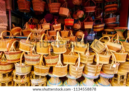 Free Photos Handicrafts Bamboo Crafts Are Traditional Products In