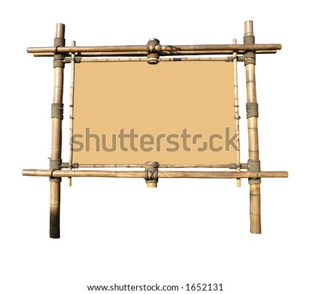 Bamboo Billboard With Area For Text (clipping path included)