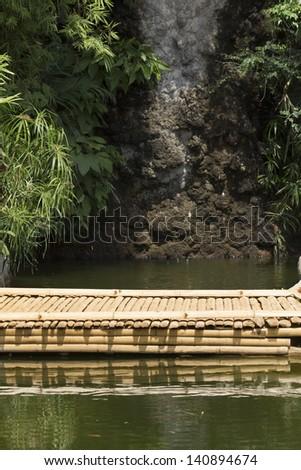 bamboo bridge in garden