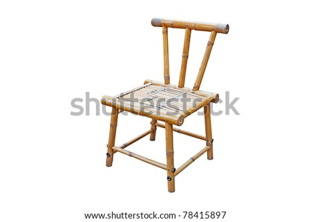 bamboo chair isolated