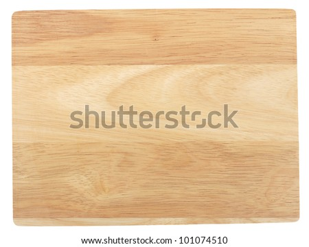 Bamboo cutting board. Isolated on white