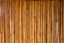 bamboo fence or wall texture background for interior or exterior design.