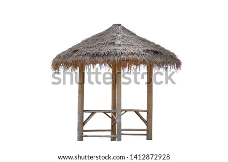 Bamboo gazebo, bamboo pavilion, canopy isolated on white background. #1412872928