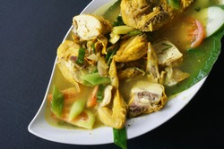 Bamboo Grilled Chicken is One of Traditional Balinese Cook Dish
