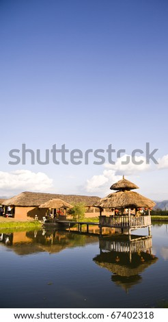bamboo hut.Thai Boran Village, Pai , Mae Hong Son Thailand