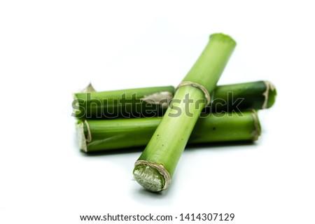 Bamboo isolated on white background #1414307129