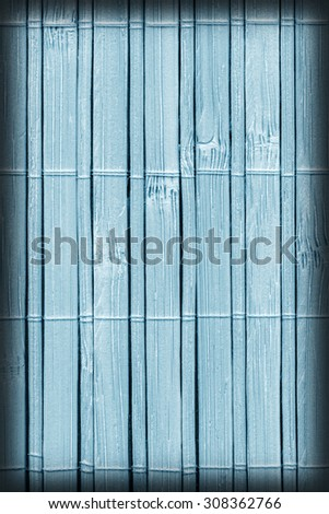 Bamboo Mat, Bleached and Stained Powder Blue, Vignette, Grunge Texture Sample.