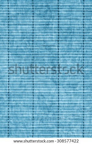 Bamboo Mat Handiwork, Bleached and Stained Powder Blue, Grunge Texture Sample.
