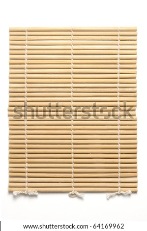 bamboo mat the japanese or asian style for background or backdrop isolate on white