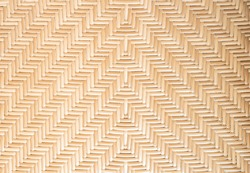 Bamboo or rattern weaving pattern texture background. A part of brown natural bamboo wood basket woven. Can use for decor, wallpaper and  design
