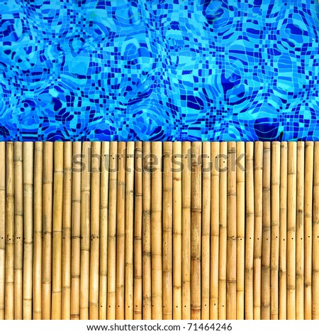 bamboo pool edge background