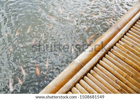 Bamboo shelters in Bali, Indonesia  #1508681549