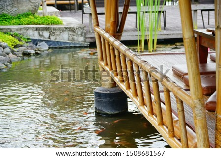 Bamboo shelters in Bali, Indonesia  #1508681567