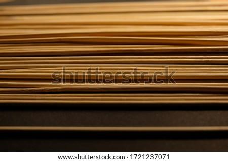 Bamboo skewers pattern close up Stok fotoğraf ©