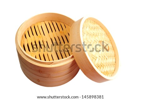 Bamboo Steamer isolated on white background