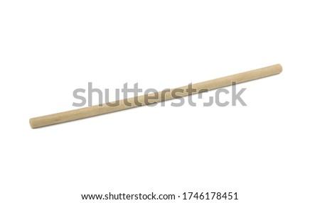 Bamboo straw isolated on white background Stock photo ©