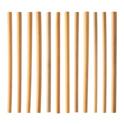 bamboo straw isolated on white background ( straw from natural material / green product concept )