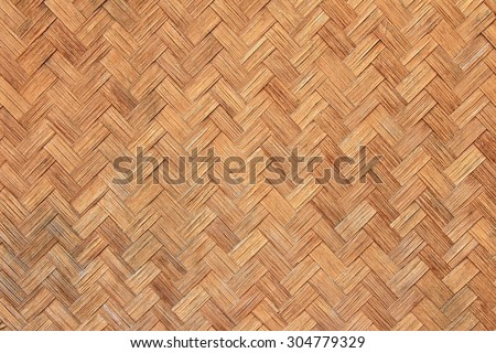 Bamboo texture and background, Basket weave pattern.