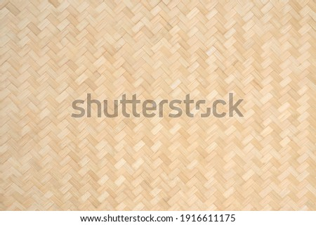 Bamboo weave background, Wooden bamboo texture, Traditional handcraft natural material weaving design wallpaper art backdrop.