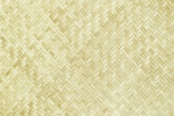 Bamboo weave pattern. Close up traditional handcraft woven bamboo for background.