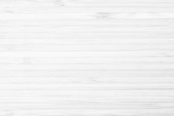 Bamboo wood board panel natural texture background in white color: