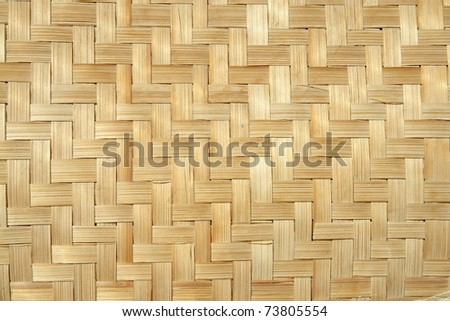 Bamboo wood texture ,Thai handwork