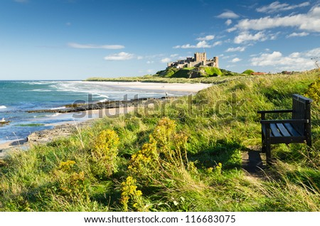 Bamburgh Castle and seat / Bamburgh Castle taken here from the north dates back to the 6/7th century