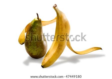 Banana and pear