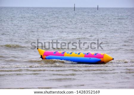 Banana boat for activity on the sea #1428352169